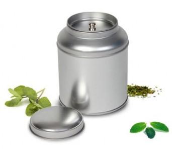 Boite à thé silver ronde