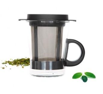 Verre à thé + filtre noir 200ml