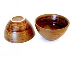 Duo de tasses marron Fung 0,2l