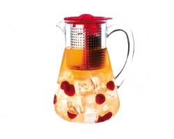 Pichet à thé glacé couvercle rouge 1,8l