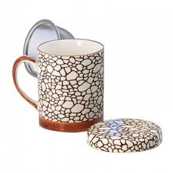 Tisanière Kenshiro, porcelaine du Japon, 25cl