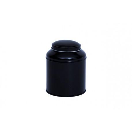 Boite à thé noire ronde 125g